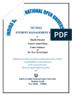 Student Management System Report