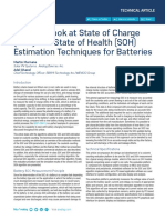A Closer Look at State of Charge and State Health Estimation Techniques ...