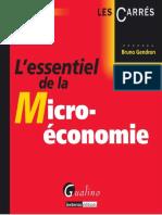 Bruno Gendron-L'Essentiel de La Micro-économie-GUALINO EDITIONS (2014)