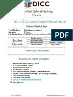 Ethical Hacking Brochure