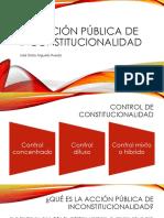 La Acción Pública de Inconstitucionalidad