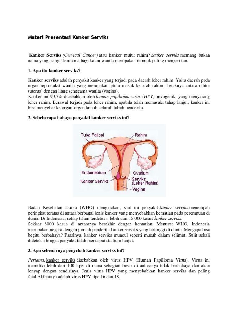 Kanker Yang Disebabkan Oleh Virus Human Papilloma ...