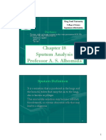 Chapter 18 (Sputum Analysis)