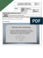 Circuitos Paralelo Divisores de Corriente Armado y Medici「n