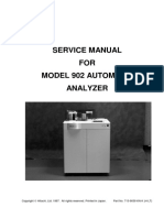 Hitachi 902 Automated Analyzer - Service Manual