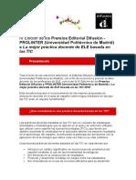 Premios Difusion Prolinter IV