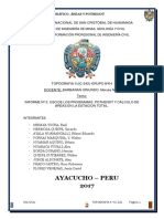 Informe Sobre Pothenoth y Areando en Estacion Total Topoc