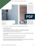 Armonico - Controtelaio Per Porte Scorrevoli a Scomparsa Parziale