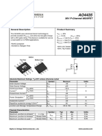 AO4435 POWER MOSFET  .  IMPORTANT