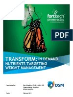 Transform in Demand Nutrients Targeting Weight Management Presentado Por Ram Chaudhari Edicion Fortitech