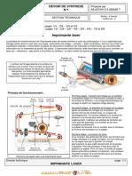 Devoir de Synthèse N°1 - Génie mécanique imprimante - Bac Technique (2010-2011) Mr Mlaouhi slaheddine