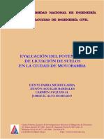 Evaluación Del Potencial de Licuación de Suelos en Moyobamba