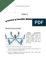 Tema 2 - Procesul de Management Si Functiile m.
