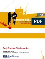 10.50am (B) Work Site Induction for New Employees - Best Pra
