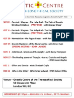 Upcoming Programs for the Gnostic Centre of the Theosophical Society-London
