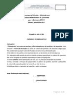 Caderno de Questões ME e DO Edital Nº003.PPGQ .2017 1
