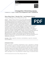 Cooperative and Competitive Orientation