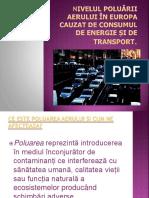Nivelul Poluării Aerului În Europa Cauzat de Consumul de Energie Și de Transport