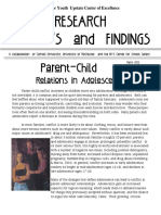 Parent-Child Relations in Adolescence