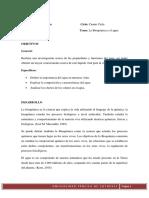 La Bioquimica & El Agua