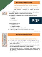 5-1 Investigacion Operativa---modelo de Programación Lineal de Una Empresa