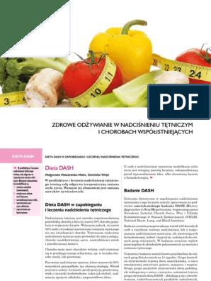 1 Dieta Dash Zdrowe Odzywianie W Nadcisnieniu Tetniczym Pdf