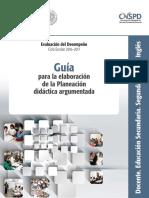 Guía Planeación Didáctica Argumentada (SEP)