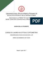 Guida Studente Ottica&Optometria 2017 2018