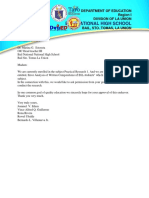Letter of Communication