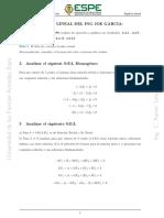 Álgebra lineal sistema ecuaciones lineales
