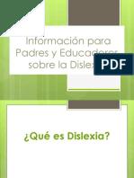 Educacion de Dislexia Para Padres