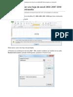 Como Desbloquear Una Hoja de Excel 2003 2007 2010 Protegida Con Contraseña