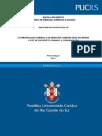 Direito Humano e Comunicação -  Trabalho de Conclusão de Curso