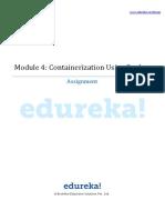 Edureka Module 4 Assignment