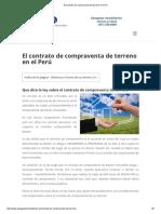 El Contrato de Compraventa de Terreno en Perú