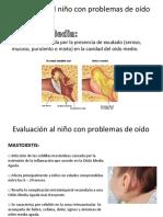 Evaluación Al Niño Con Problemas de Oído