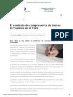 El contrato de compraventa de bienes inmuebles en Perú.pdf