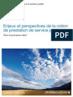 Enjeux Et Perspectives Service Punlic