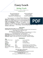 casey leach - acting coach