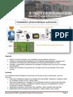 Correction Installation Photovoltaique Autonome EE2 3 2
