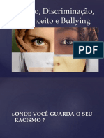 Racismo, Discriminação, Preconceito e Bullying