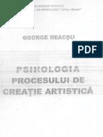 George Neacsu - Psihologia Procesului de Creatie Artistica