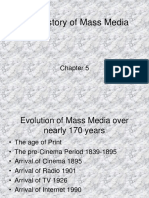 Brief History of Mass Media