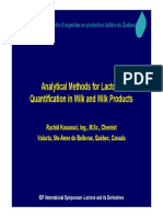 Analytical Methods for Lactose Determination