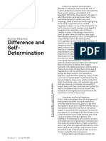 Difference and SelfDetermination