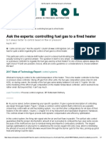 Ask the Experts_ Controlling Fuel Gas to a Fired Heater