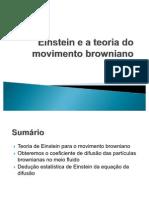 Einstein e a Teoria Do Movimento Browniano