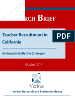 Teacher Recruitment in California Research-Brief