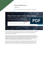 Cara Membuat WordPress Di WordPress