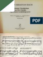 Corales de Bach (Pequeña Selección)